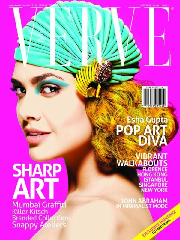 Esha Gupta Verve Magazine  Cover Shoot