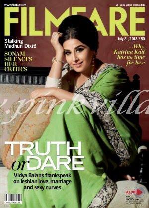 Vidya Balan Filmfare Cover
