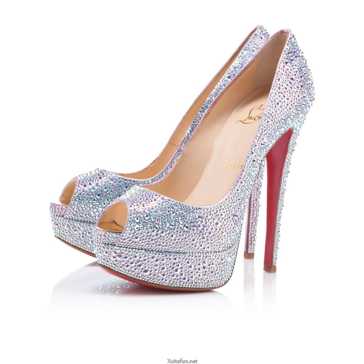 high heel christian louboutin footwear for bridal. Black Bedroom Furniture Sets. Home Design Ideas