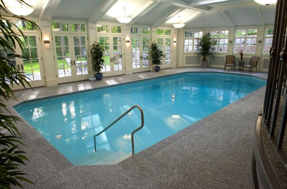Cool and stylish residential indoor pools - Inside swimming pool ...