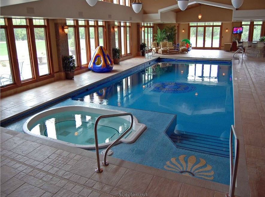 Cool and stylish residential indoor pools for Indoor pool design uk