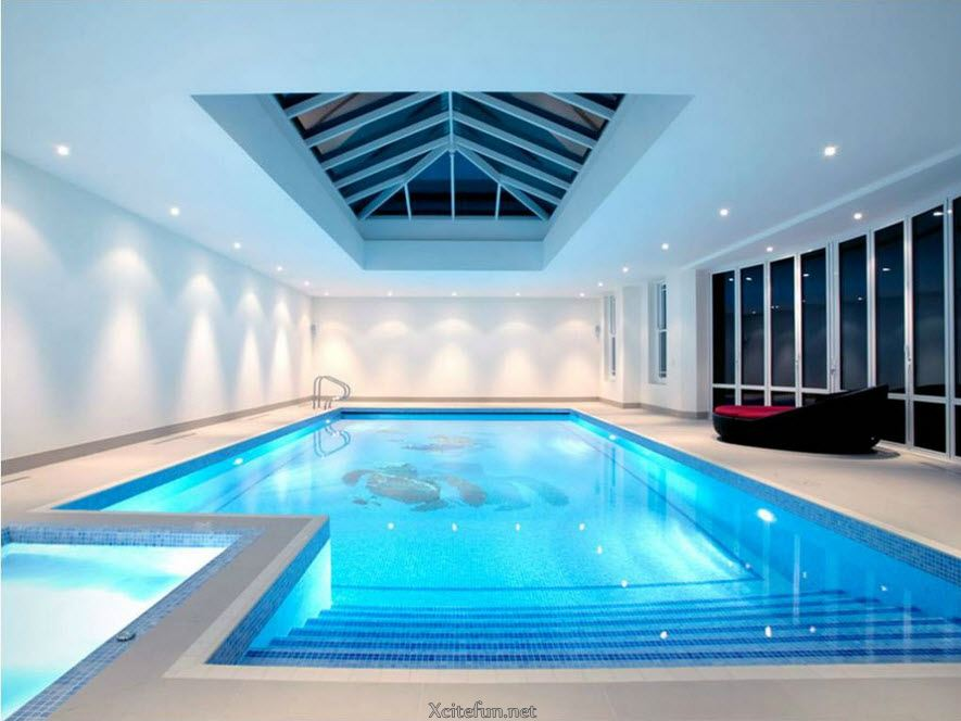 cool and stylish residential indoor pools
