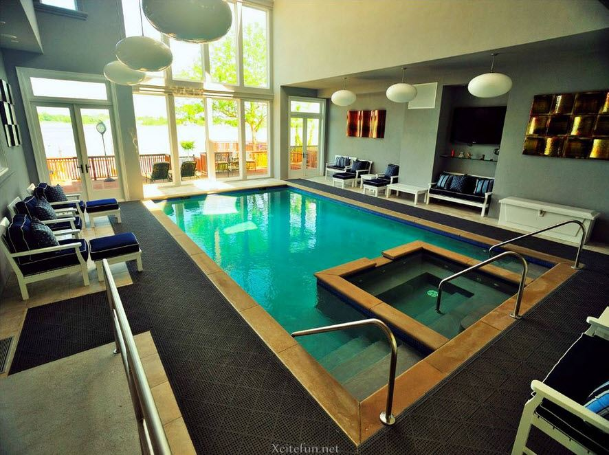 Cool And Stylish Residential Indoor Pools Xcitefun Net
