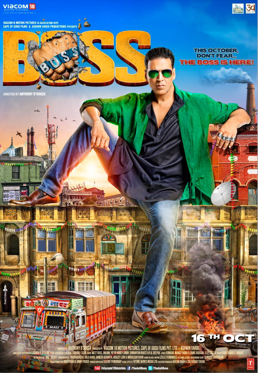 BOSS Movie Poster and Trailer ft. Akshay Kumar - XciteFun.net