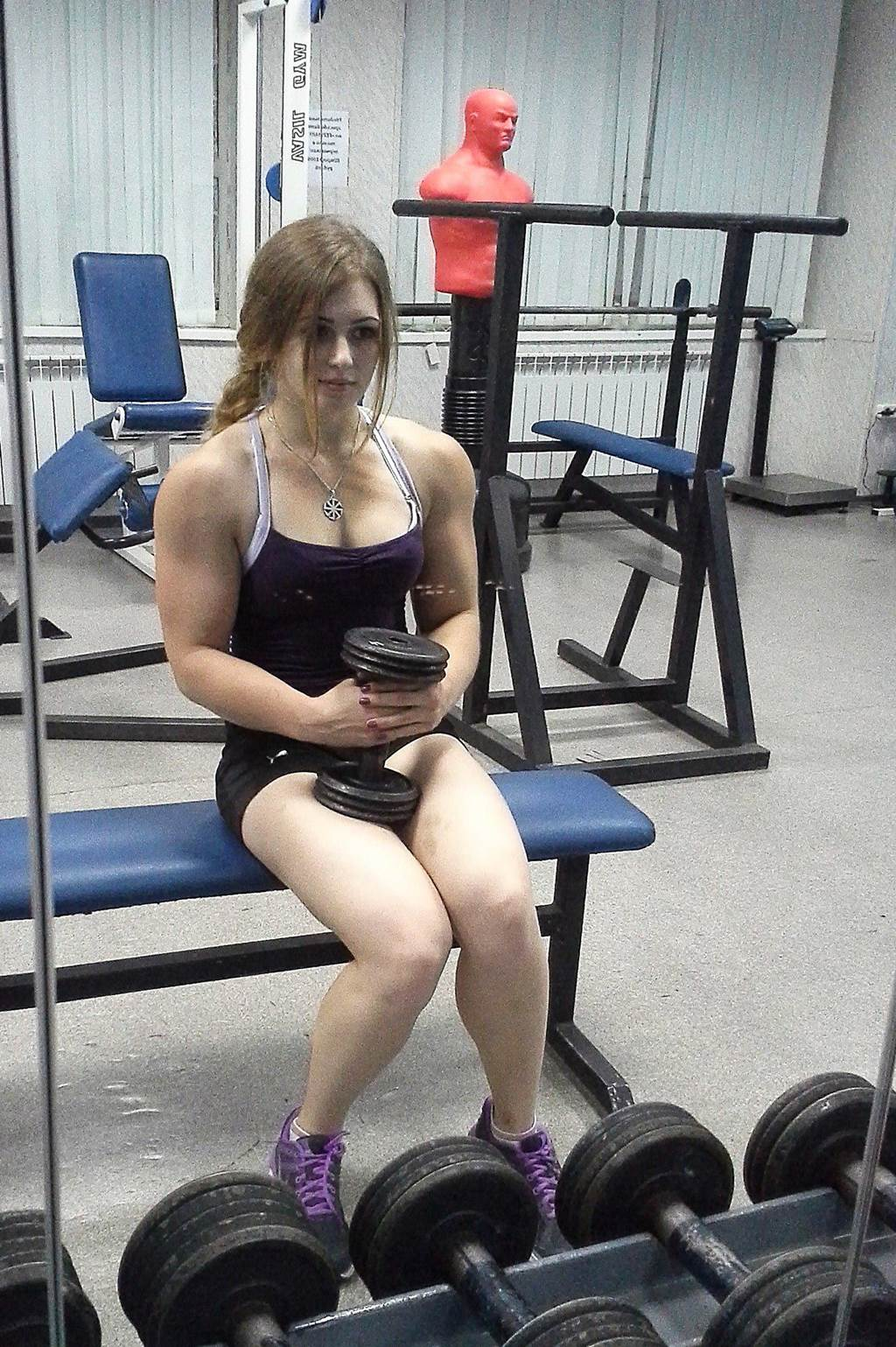 Cute Barbie Face Powerlifter Girl