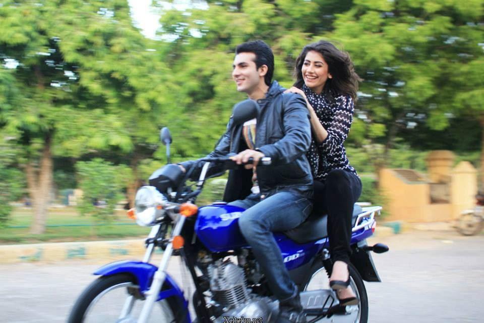 Cute Couple Syra And Shehroz Shoots For Bts Of Suzuki Bike