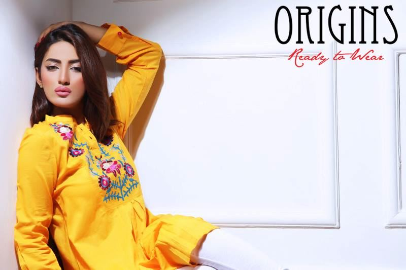Mathira Shoots For Origins Kurta Collection