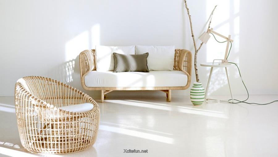 wood rattan indoor furniture by cane line