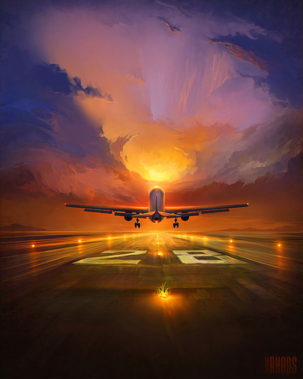 Beautiful Paintings With Digital Sky