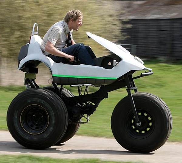 Sinclair C5 Converted into Monster Truck