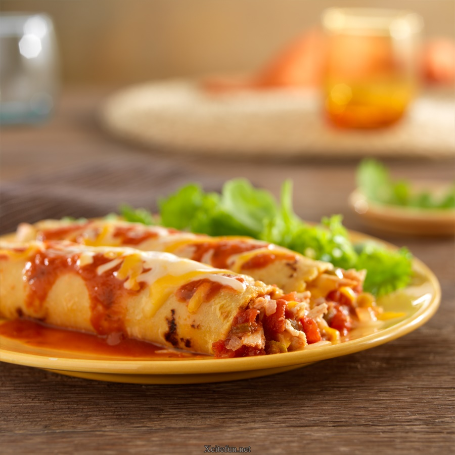 Chicken Enchiladas Roll - XciteFun.net