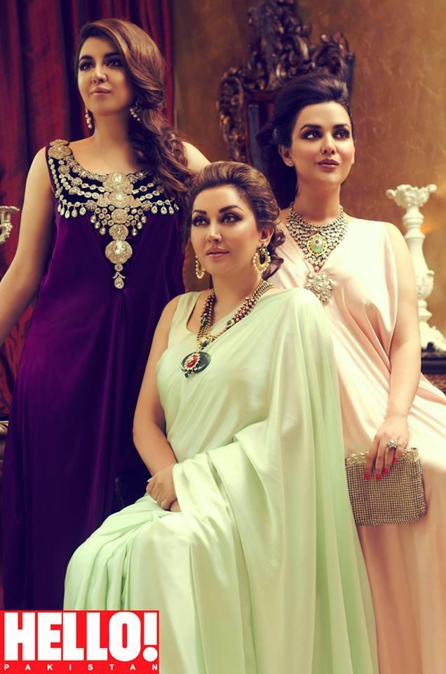 Natasha salon shoot for hello pakistan for Asma t salon lahore
