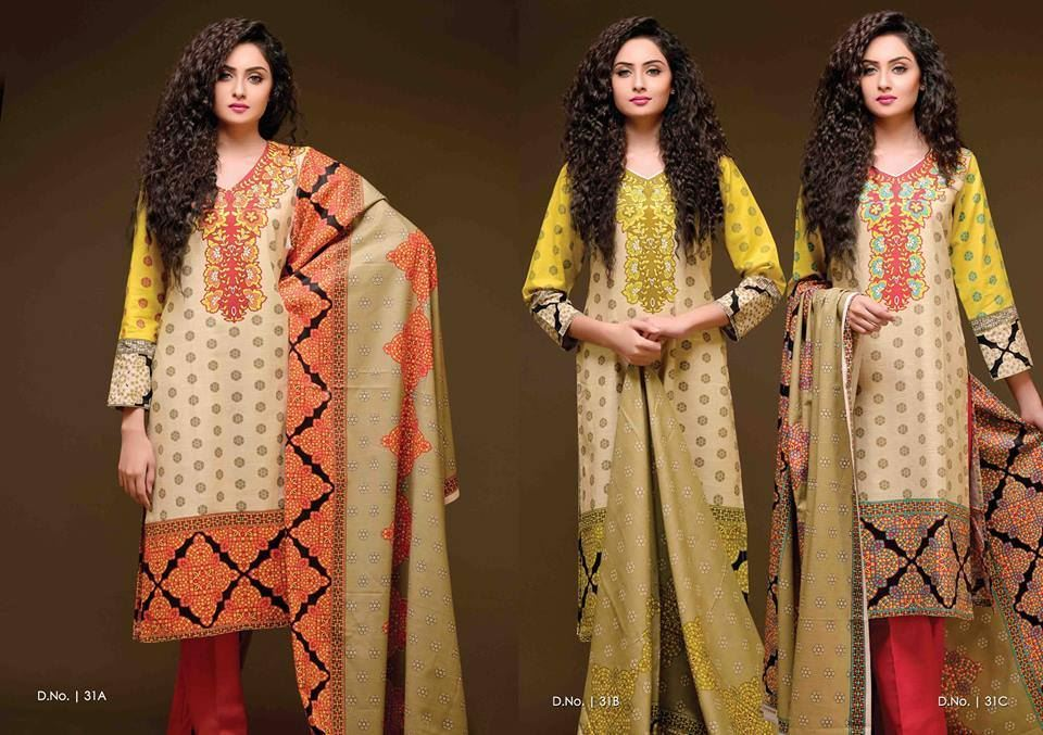 Sitara Printed Khaddar Salwar Kameez By Creative