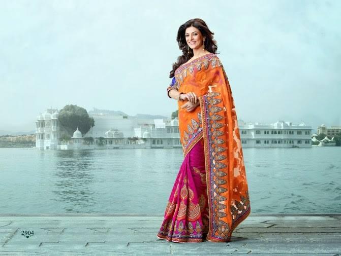 sushmita sen bridal sarees   designer collection   xcitefun