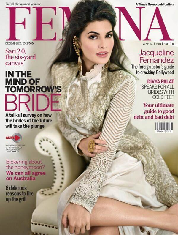 Jacqueline Fernandez Femina India  Bridal Shoot