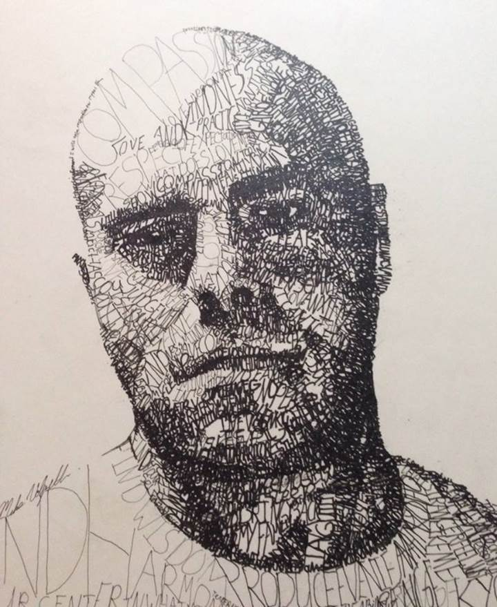 word art portraits by michael volpicelli