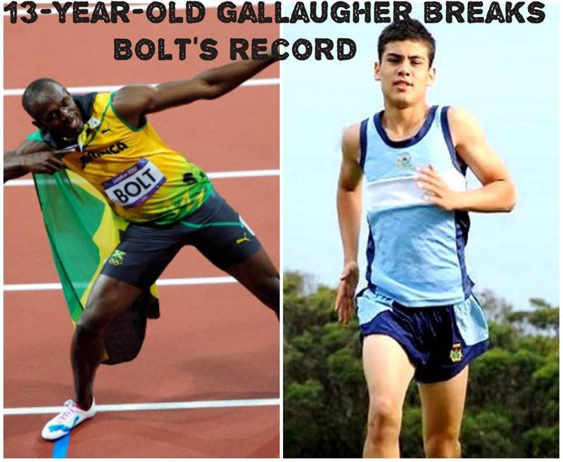 James Gallaugher Fastest Aussie Athlete