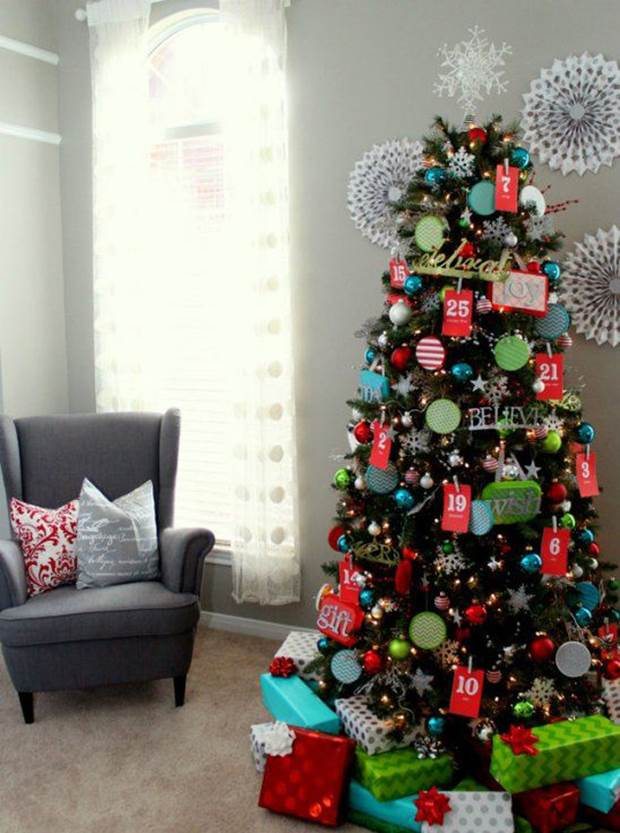 Christmas tree new designs 2014 for Small designer christmas trees