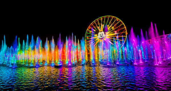 rainbow world of color water show. Black Bedroom Furniture Sets. Home Design Ideas