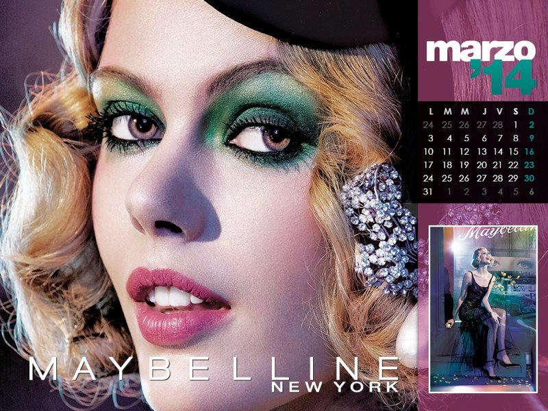 Maybelline Beauty Calendar 2014  Colorful Cosmetics