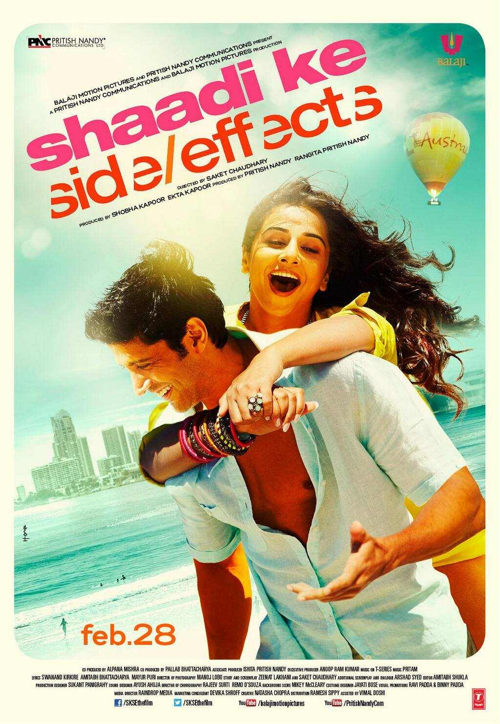 shaadi ke side effects movie poster and trailer xcitefunnet