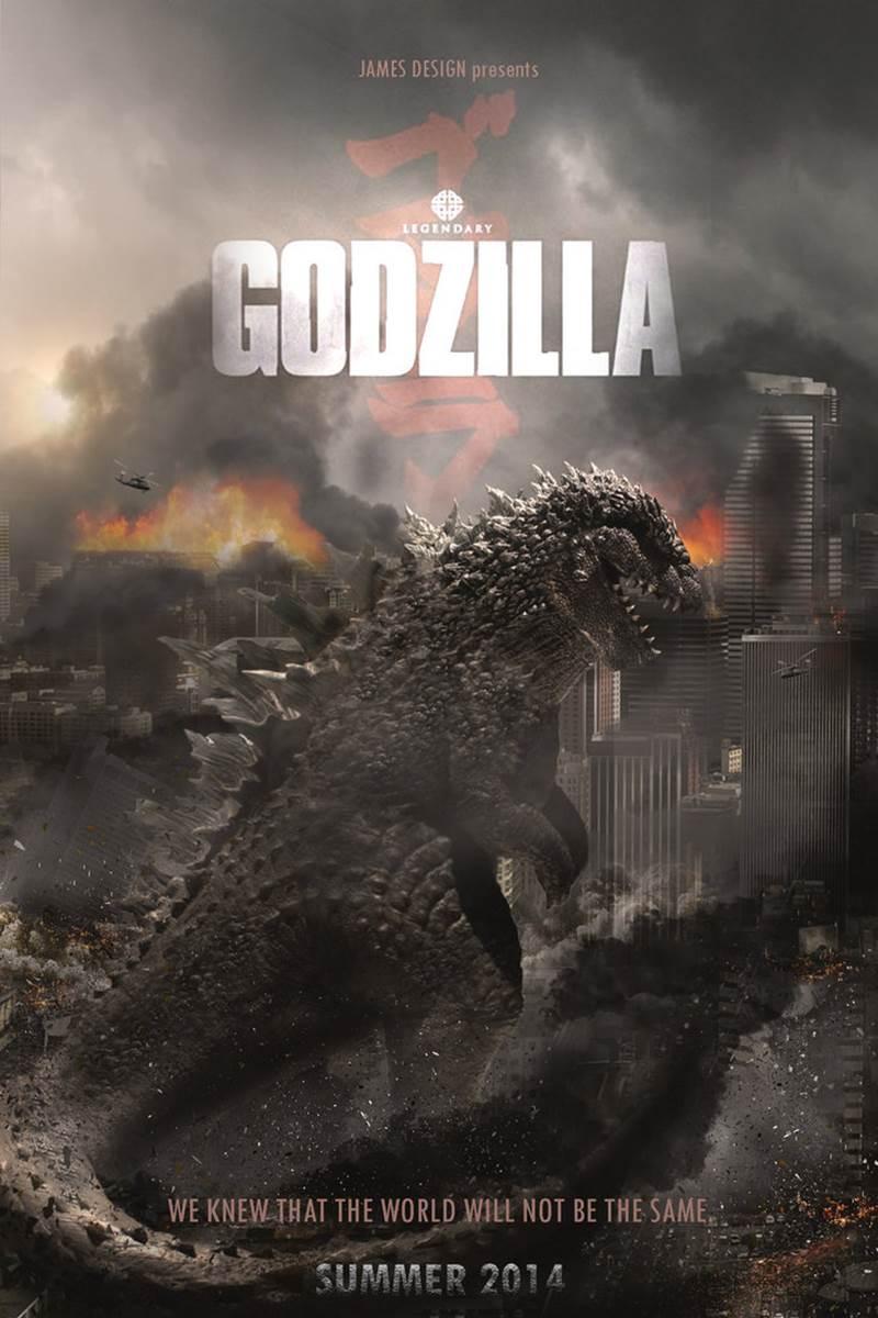 Godzilla 2014 Movie Po...