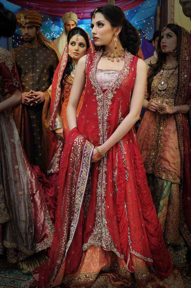 bridals wear designer nilofer shahid by khawar riaz