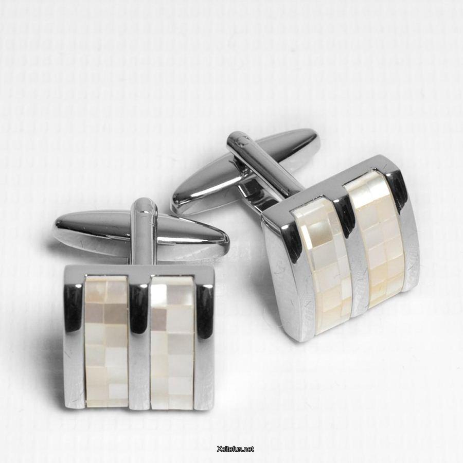 Luxury Silver Stylish Cufflinks For Men