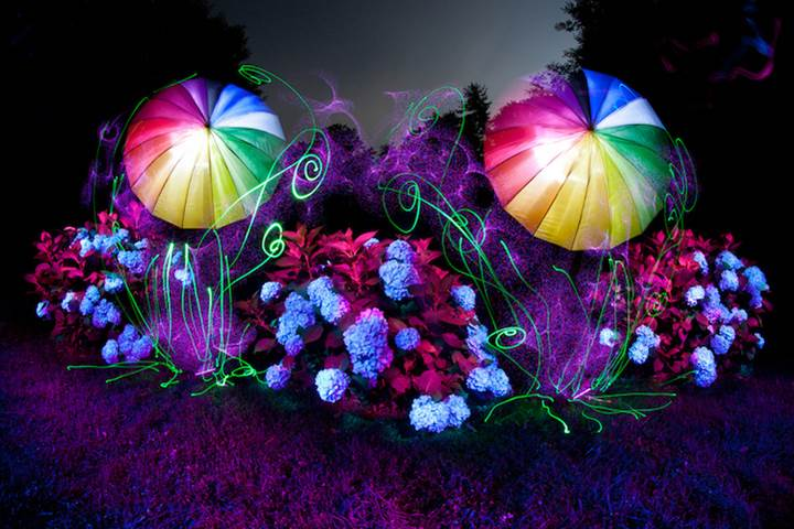 Kaleidosopic Light Paintings