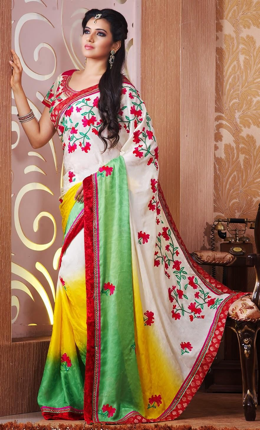 Fancy Designer Saree For Party Wear Xcitefun Net
