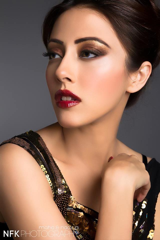 Ainy Jaffri Make Up Shoot by Maria Salon