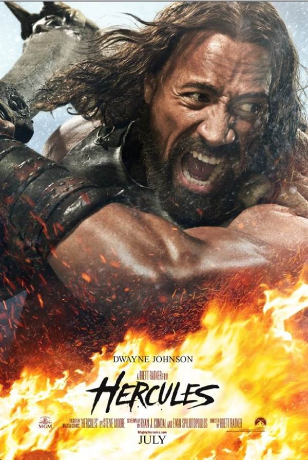 movie Hercules 2014 along with Russian model Irina Shayk  Movie willDwayne Johnson Hercules Movie Poster