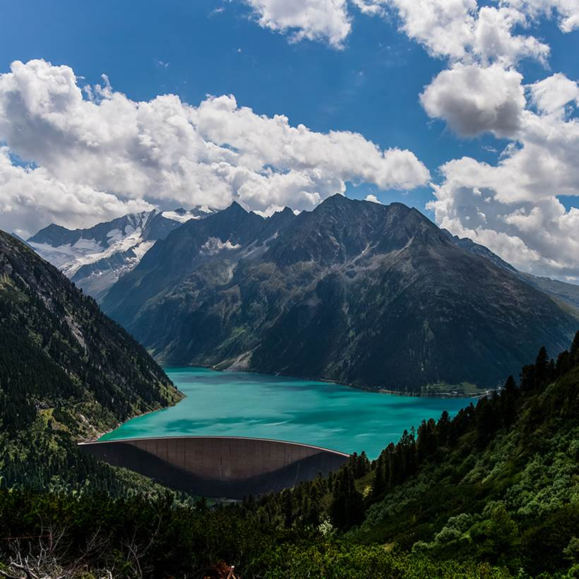 Scenic Beauty Of Schlegeis Lake Austria