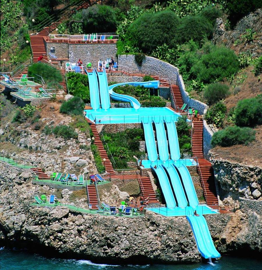 worlds coolest water slide citta del mare with pictures of the coolest houses in the world - Coolest House In The World 2014