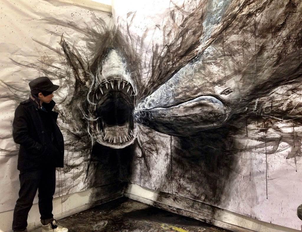 Amazing 3d animal art for 3d mural painting tutorial