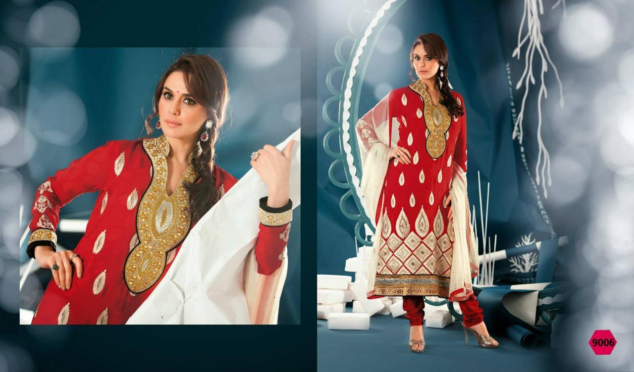 354834xcitefun preity zinta 2014 designer dress 7 - Preity Zinta Party Wear Summer Collection 2014