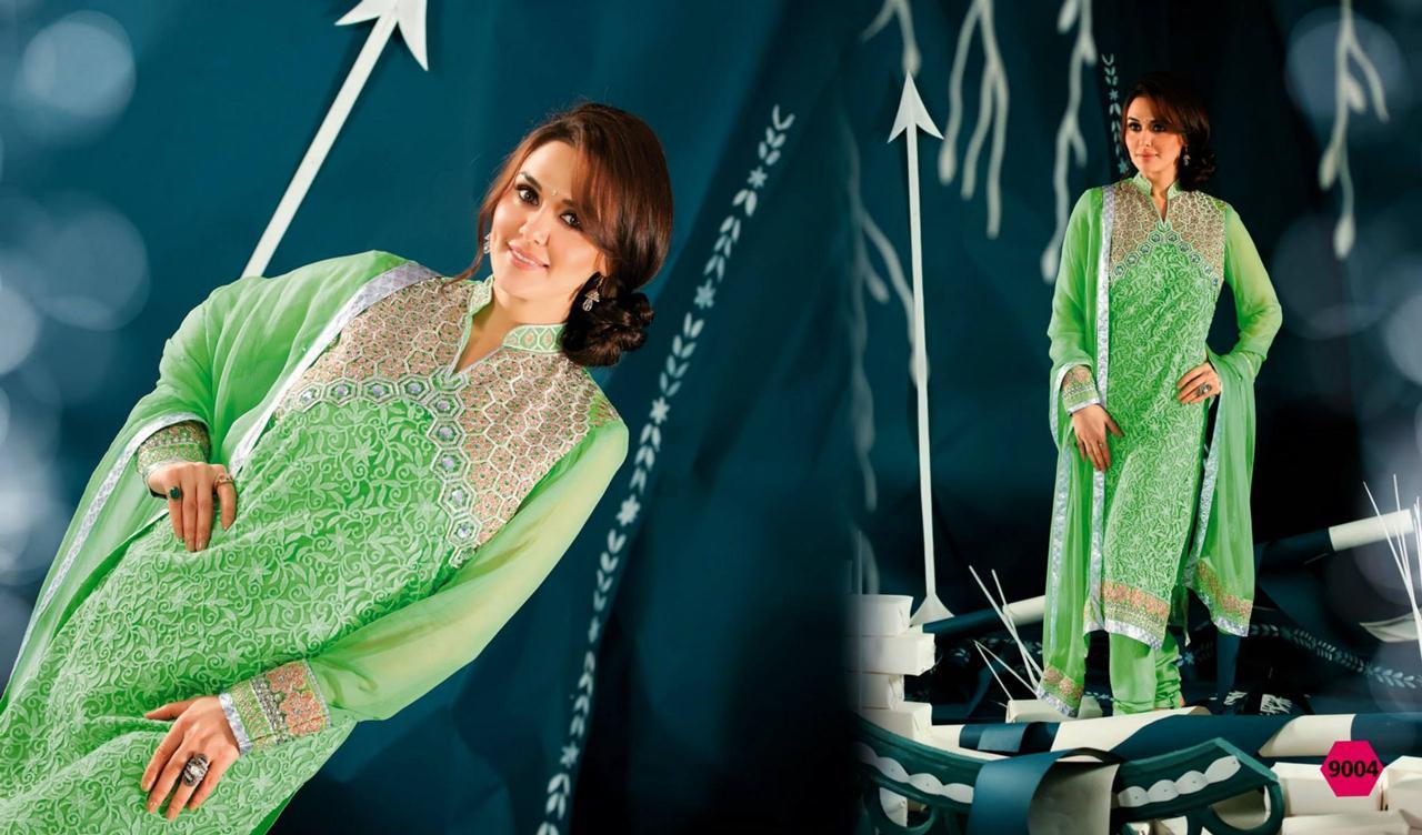 354836xcitefun preity zinta 2014 designer dress 5 - Preity Zinta Party Wear Summer Collection 2014