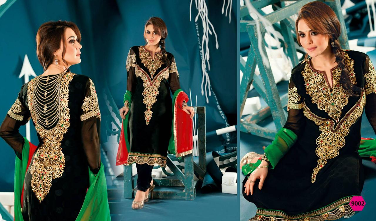 354837xcitefun preity zinta 2014 designer dress 4 - Preity Zinta Party Wear Summer Collection 2014
