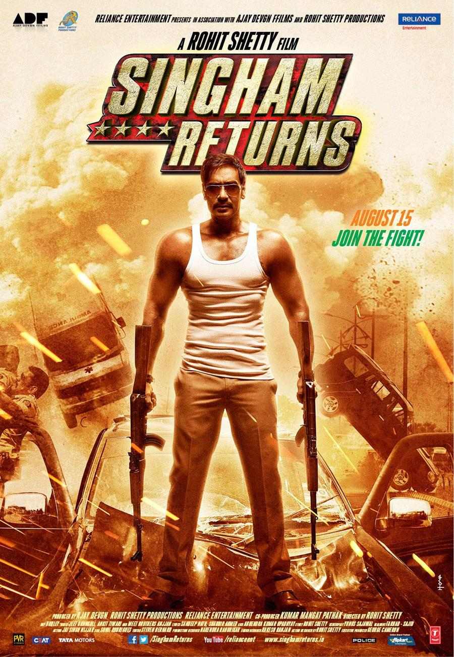 Singham Returns (2014) Worldfree4u - Watch Online Full Movie Free Download Hindi Movie 375MB DVDScr