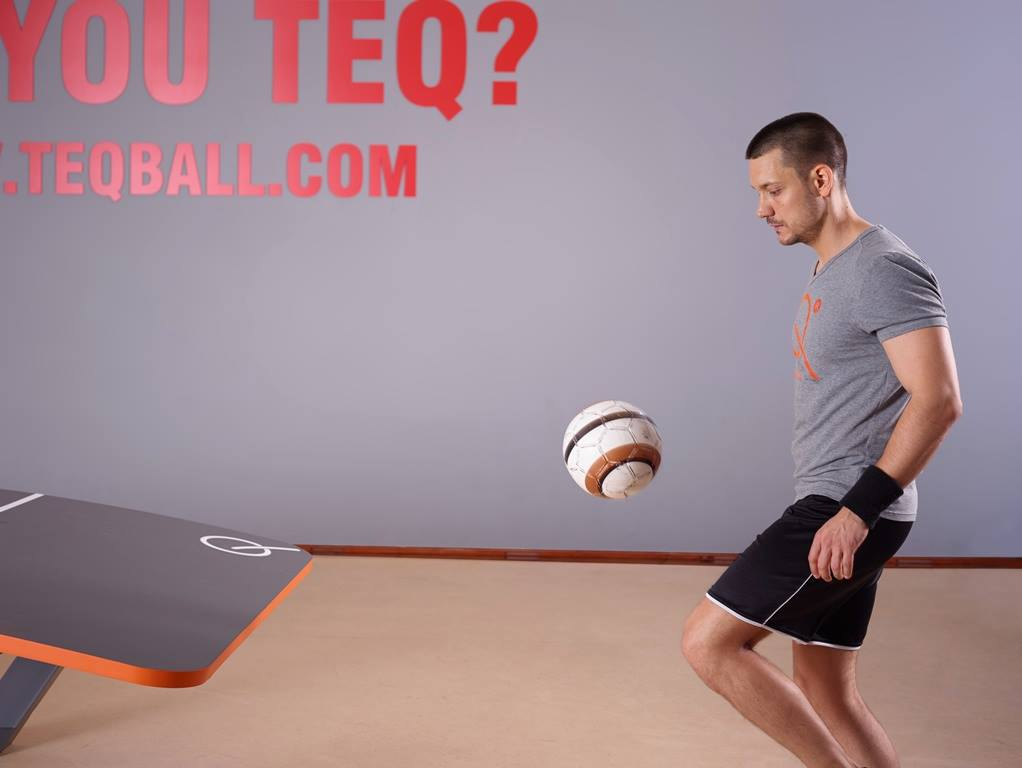Play Football On Tennis Table Teqball Game Xcitefun Net