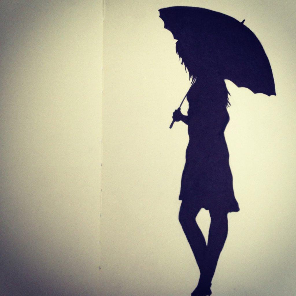 sad & alone girl with umbrella - XciteFun.net
