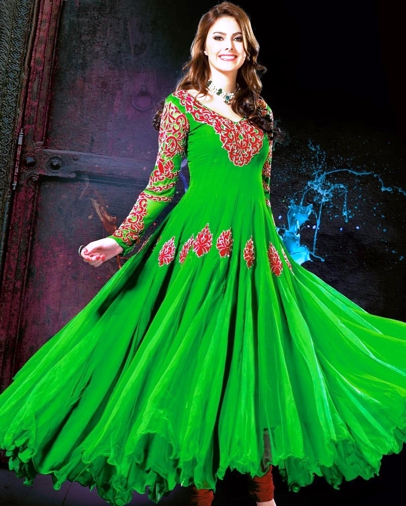 Dress Designs: Pakistani Frock Style Girls EID Dresses