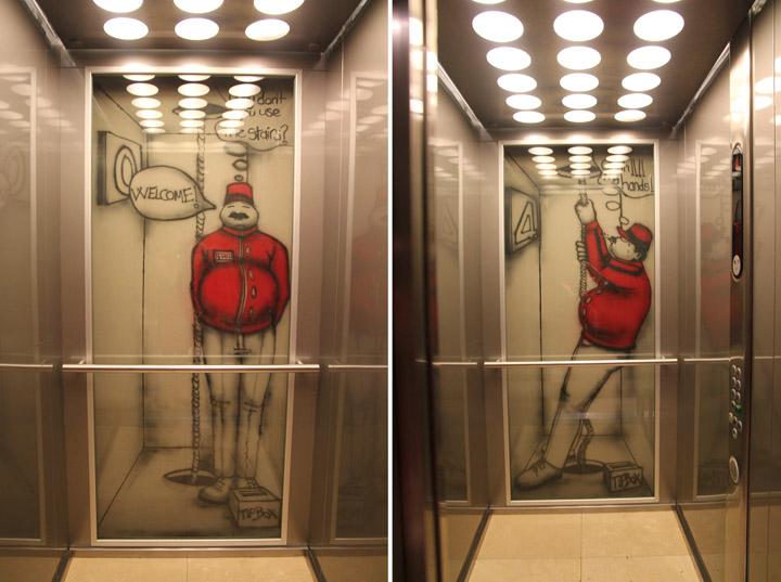 Amazing Graffiti Art On Elevator Doors Xcitefun Net