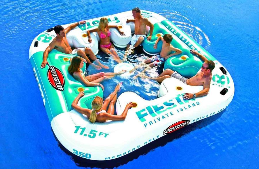 Inflatable Floating Island For Pool Parties Xcitefun Net
