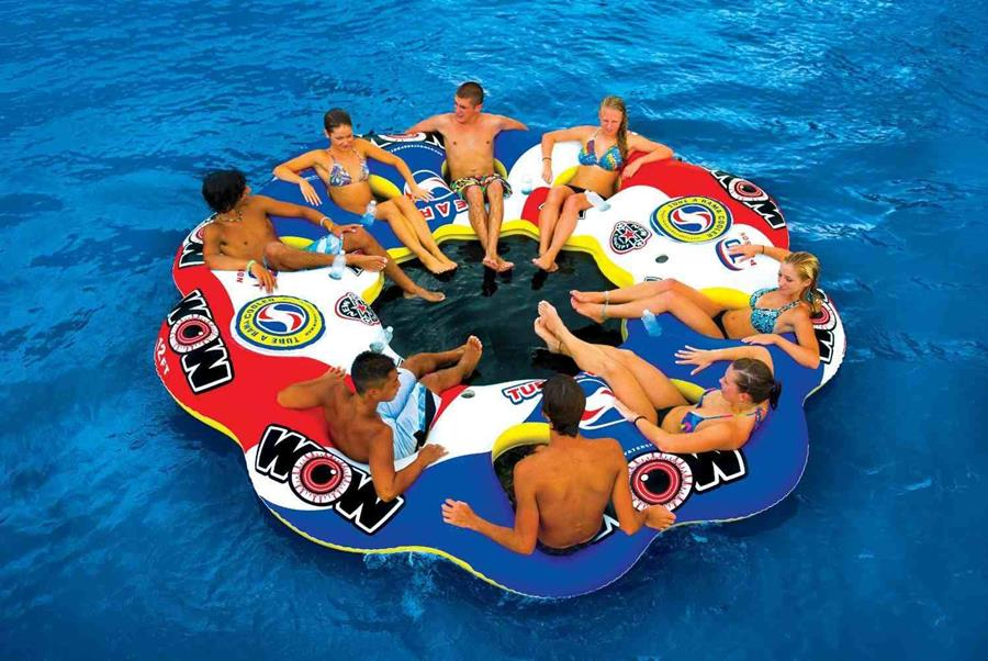 Inflatable Floating Island For Pool Parties - XciteFun.net