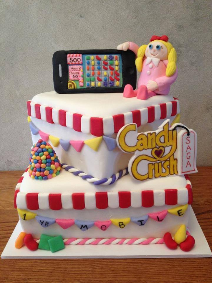 The Sweet Cakes Specially Designed For Fans Of Candy Crush Games
