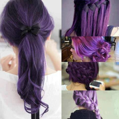 different shades of purple hair  xcitefun