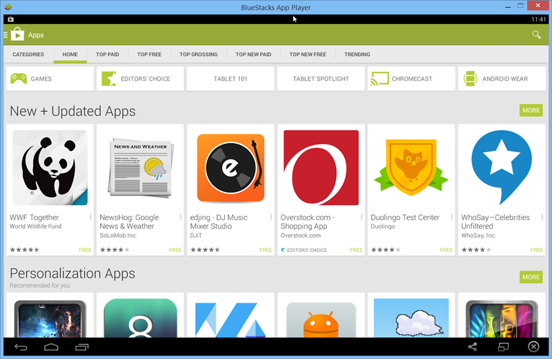 android apps for pc  software
