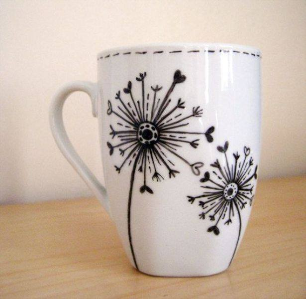 creative hand painted coffee mug designs