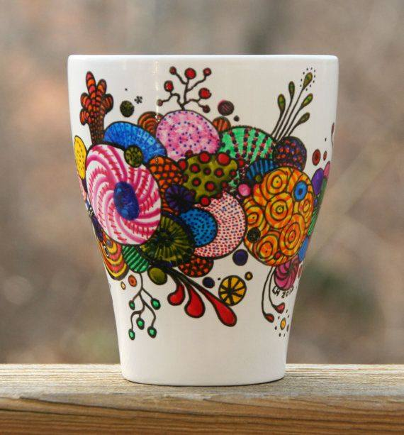 creative hand painted coffee mug designs
